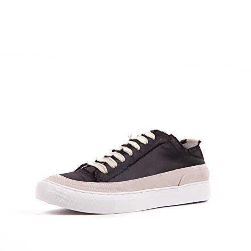 Donne Vintage Punta Tonda Tacco Per Low-Low Top In Pizzo Movimento Libero Pattini Scarpe Sportive. Nero