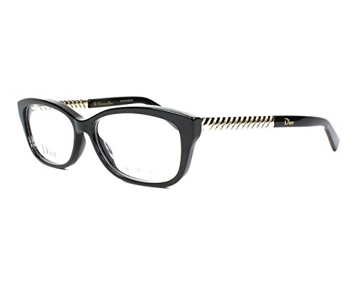 Dior Für Frau Cd3258 Black / Light Gold Kunststoffgestell Brillen, 54mm
