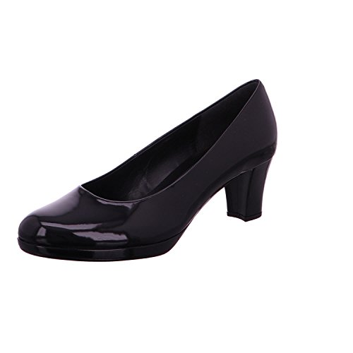 Gabor Womens Shoes 51.260.77 Pumps Donna, Pumps Con Zeppa, Ballerine Black Black (lfs Natur)