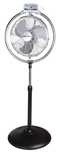 Orbegozo 13819 Ventilador Industrial de pie, 130 W, Negro y Plateado