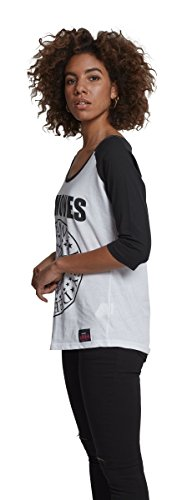 Merch CODE FEMME Ramones Circle Raglan Thé T-shirt Blanc/noir