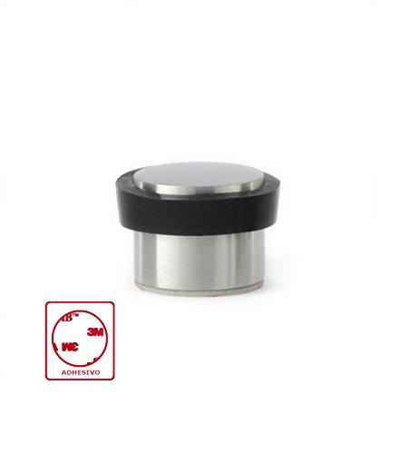 2f5b3fc42bf EVI Hardware I-163 Fermaporta adesivo, in acciaio Inox mate Satinato e  gomma nera.