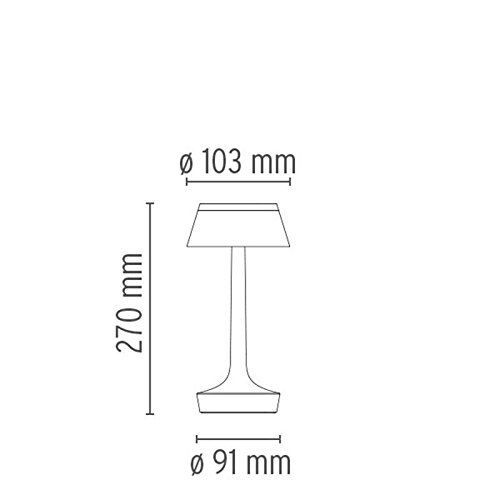 Flos Bon Jour Unplugged f1035009LED lámpara de mesa blanco con corona transparente f1036000