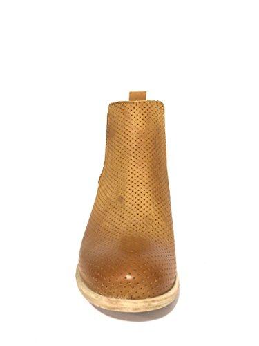 Stivaletti Dvth2-43 Divine Follie in pelle elastico tacco basso MainApps Cuoio
