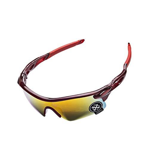 Daesar Brille Motorrad Winddicht Schutzbrille Beschlagfrei Sport Brille Winddicht Rot