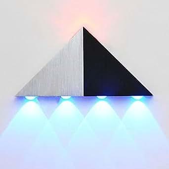 applique moderna elegante : 5w moderna applique da parete a LED con elegante alluminio triangolo ...