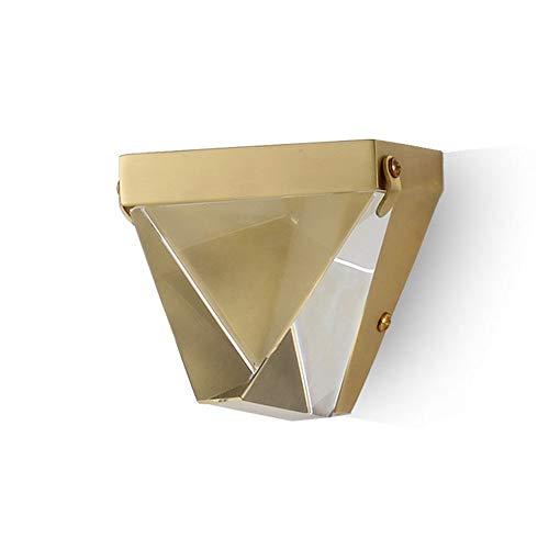 Postmoderne minimalistische Kristallwandlampe Ganglicht Einfache Schlafzimmer-Nachttischlampe Wandleiste aus reinem Kupfer - Schnur-dimmer Durch