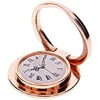 AchidistviQ - Soporte de Metal para teléfono móvil, diseño de Reloj de Bolsillo, Color Oro Rosa