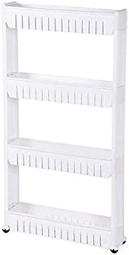 Organizer for kitchen and Bathroom 4 shelves, white