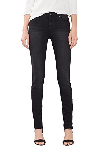 ESPRIT Damen Jeanshose 996EE1B906, Schwarz (Black Dark Wash 911), W29/L32 (Basic Five-pocket-jeans)