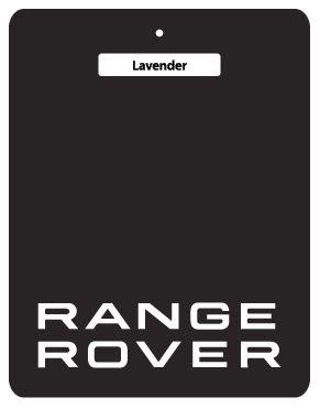 5Für 10£ Deal.-Range Rover Auto-Lufterfrischer Black Series-4,4l TDV8Westminster, 4,4l TDV8Autobiographie, 5.0L V8Supercharged Autobiographie, Land Rover, Discovery, alle Range Rover