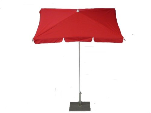 Maffei Art 23R rechteckig Sonnenschirm cm 180x120, Stoff Baumwolle, Knicker, Made in Italy. Farbe Rot
