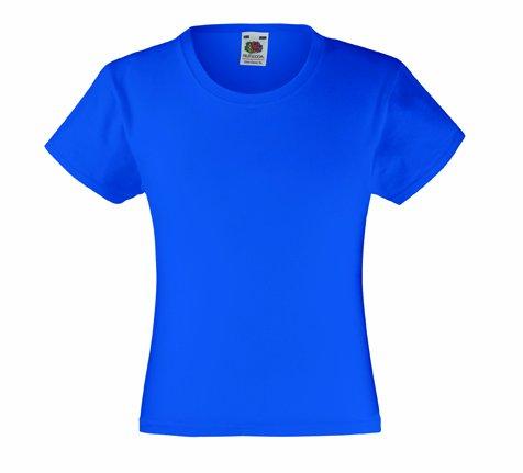 Mädchen T-Shirt Girls Kinder Shirt - Shirtarena Bündel 140,Royal