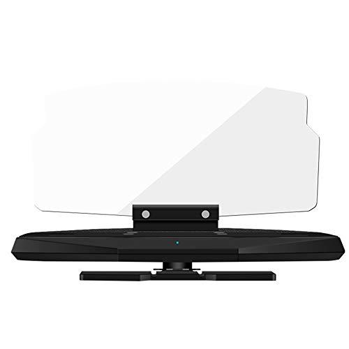 ZRK Mobile Navigationshalterung-Auto Universal Wireless Charging HUD Halterung-Base-Unterstützung Handy Wireless Ladefunk-Kompatible UnterstüTzung Und QI Wireless Charging Standard-Handy