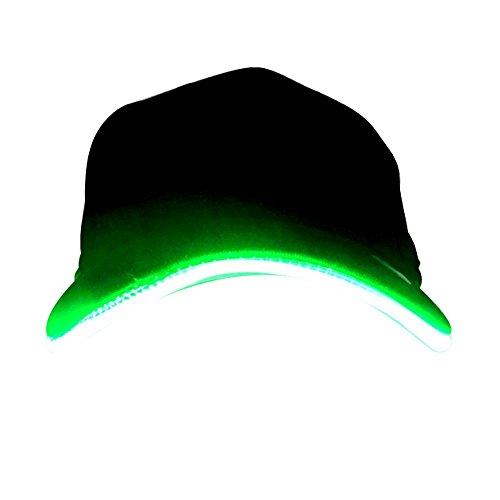 Kostüm Flash Besten (LED Hüte,Herren-Baseballkappe, LED-beleuchtet, leuchtende Party-Mütze, LED-Taschenlampen Hüt,Faser optisch Licht Bühne Leistung Gezeiten glühen Club sportlich Reise Tour Hüt Bar BlitzKappe)