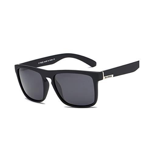 DYFDHA Sonnenbrillen Sunglasses Men Polarized Women Square Sun Glasses NEW Male Female Driving Sunglasses Retro Cheap Luxury Brand Designer Black