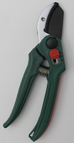 Amboss-Schere mit Griffweitenverstellung, Gartenschere, Blumenschere für kleine und große Hände geeignet