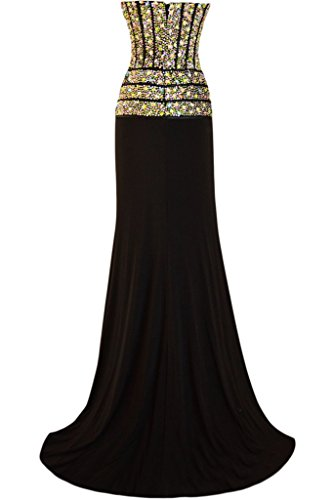 ivyd ressing – scheind pierres strass robe mousseline Prom Party robe longue robe du soir Schwarz
