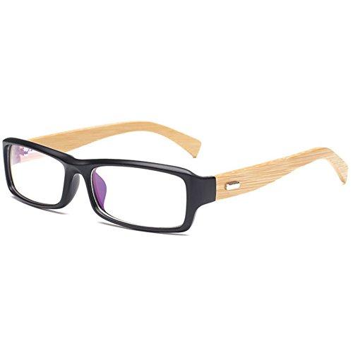 MEIHAOWEI 100% Handmade Natural Bamboo Eyeglasses Vintage Unisex Frame Eye Glasses Wooden Myopia Frame Color 4