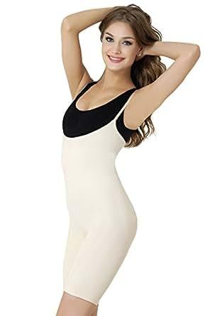Formeasy Damen Shapewear Taillenformender Mieder mit Shaping Funktion stark formende Unterwäsche mit Bauchweg Effekt - Miederbody