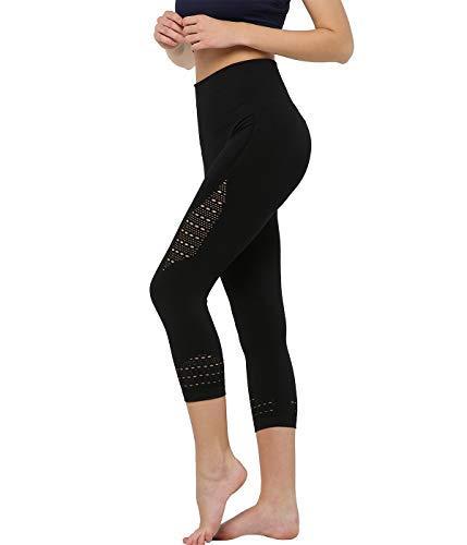 Snailify Damen Yoga Hose Leggings Strumpfhose mit Hoher Taille Lang Elastisch Atmungsaktiv - Hose für Yoga Fitness Training Gymnastik