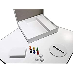 Apostrophe Games CREA tu Propio Juego de Mesa (Tablero de Juego en Blanco, Caja y Accesorios) con Piezas de Juego…