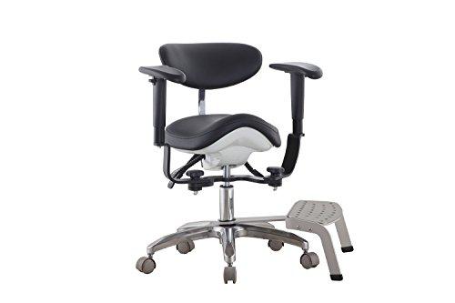 First Dental Lupe und Stuhl für Massage und Kontrolle mit Pedal-Arzt-Hocker - Sattel-hocker Mit Rückenlehne