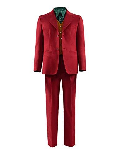 Joker Kostüm Der Cosplay - Joker Cosplay Kostüm Jacke Hose Weste Shirt Komplett Set (L, Stil 1)