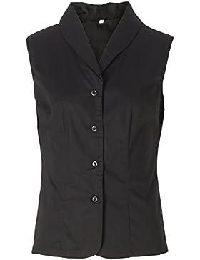 Candow Look femenino camisas slim fit negro plus size cotton