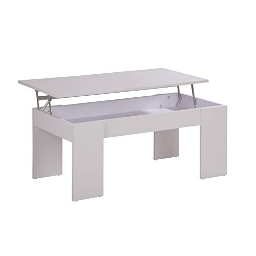 ACTUAL DIFFUSION SPACYBL Table Basse Plateau Relevable Bois 50 x 100 x 43 cm