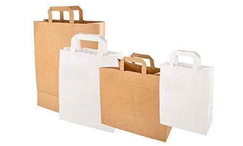 PAPSTAR Papier-Tragetasche, 260 x 170 x 250 mm, weiß, Sie erhalten 1 Packung, Packungsinhalt: 50 Stück
