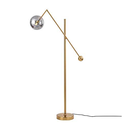 Moderne 3-Kopf Hohe Pole Stehleuchte Wohnzimmer Messing Schlafzimmer Meta Moderne Einfachheit Stehendes Licht (Color : Single Head) -
