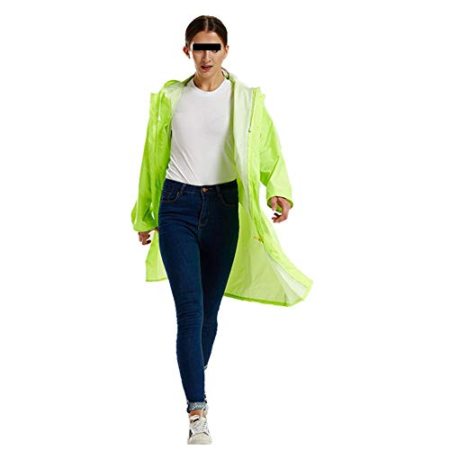 ATR Poncho Regenmantel Windbreaker wasserdichte Hülle Unisex Cool Bunt Polyester, 4 Farben, 4 (Farbe: fluoreszierend grün, Größe: XXL) (Jacke Verbergen Und Tragen)