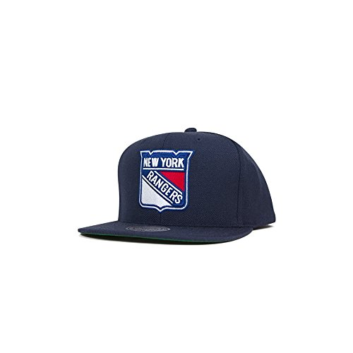 Mitchell & Ness New York Rangers Wool Solid NT80Z Snapback Cap Kappe Basecap NHL