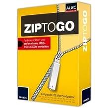 ZipToGo, 1 CD-ROM Archive splitten und auf mehrere USB-Sticks/CDs verteilen. Entpackt 22 Archivtypen: .ace, .arc, .arj, .bh, .bz2, .cab, .gz, .jar, .lha, .lzh, .rar, .tar, .tbz, .tbz2, .tgz, .uu, .uue, .war, .xxe, .Z, .zi