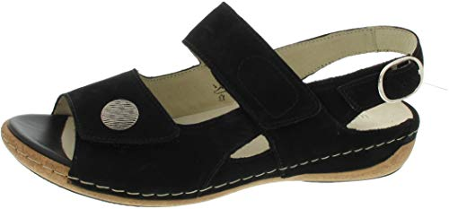 Waldläufer Damen Sandaletten Komfort Sandalette Denver 342002 191 001 schwarz 304989