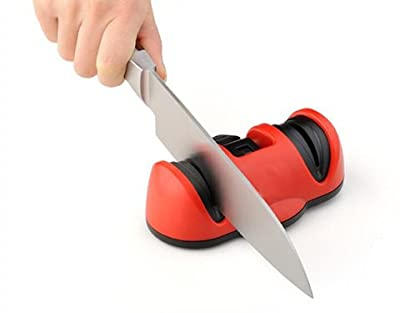 Kitchen Suction Cup Knife Sharpener Stay Sharp With 2 Slots