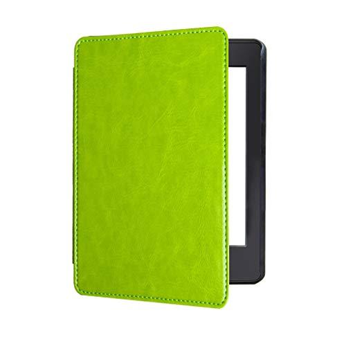 Für Kindle Paperwhite 2018 (10. Generation) Hülle,Colorful Ultra dünn und leichteste Schutzhülle mit Auto Sleep/Wake, Retro Leder Schutzhülle für Kindle Paperwhite 2018 (10. Generation) (Grün)