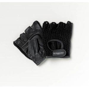 Patterson Medical All-Purpose One Pair Padded Mesh Wheelchair Gloves - Medium, Black