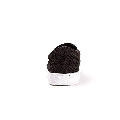 Un pedale primavera mesh traspirante scarpe/Casual scarpe da donna Nero