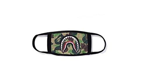 """Modische """"Badender Affe/Haifisch""""-Bape-Gesichtsmaske/Mundschutz von Whobabe, schwarz / Camouflage, camouflage"""