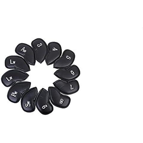 Piel artificial flyyfree–Juego de 12fundas para cabezas de golf hierro Headcovers