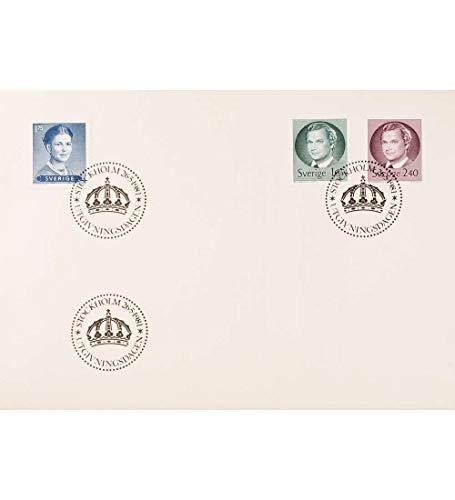 Goldhahn Schweden Nr. 1149-1151 FDC Ersttagsbrief Carl Gustav Königin Silvia Briefmarken für Sammler -