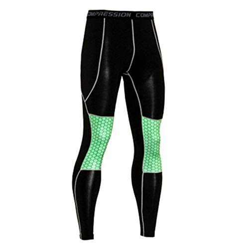 GIRlAA Men Compresion Yoga Pants Quick-Drying Elastic Fitness Trousers Gym Workout Pants Cycling Outdoor Clothing x1L -