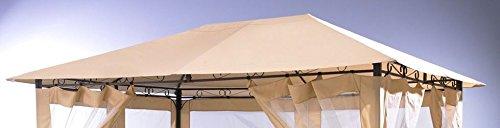 Grasekamp Ersatzdach zu Gartenpavillon Antik Pavillon Partyzelt 3x4m Sand