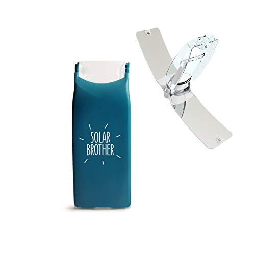 IDCOOK - Mechero solar Bi energía, Briquet Bi-energie Bleu