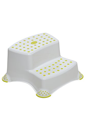 Safety 1st Double Step Stool (White, Lime)