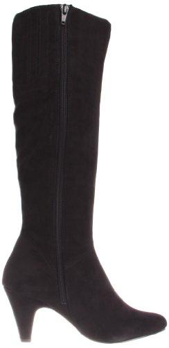 Bella Vita Transit II Breit Rund Faux Wildleder Mode-Knie hoch Stiefel Blk