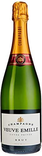 CHAMPAGNE VEUVE EMILLE (1 x 0.75 l) ǁ unverwechselbare Brut-Cuvée ǀ Champagner verschlossen durch Naturkork ǀ zum Anstoßen zu Geburtstagen, Hochzeiten oder zum Jubiläum