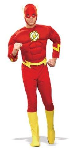 Kostüme Superhelden (Rubie's 3 888079 XL - Flash Deluxe Muscle Chest Kostüm für Erwachsenen, Größe)